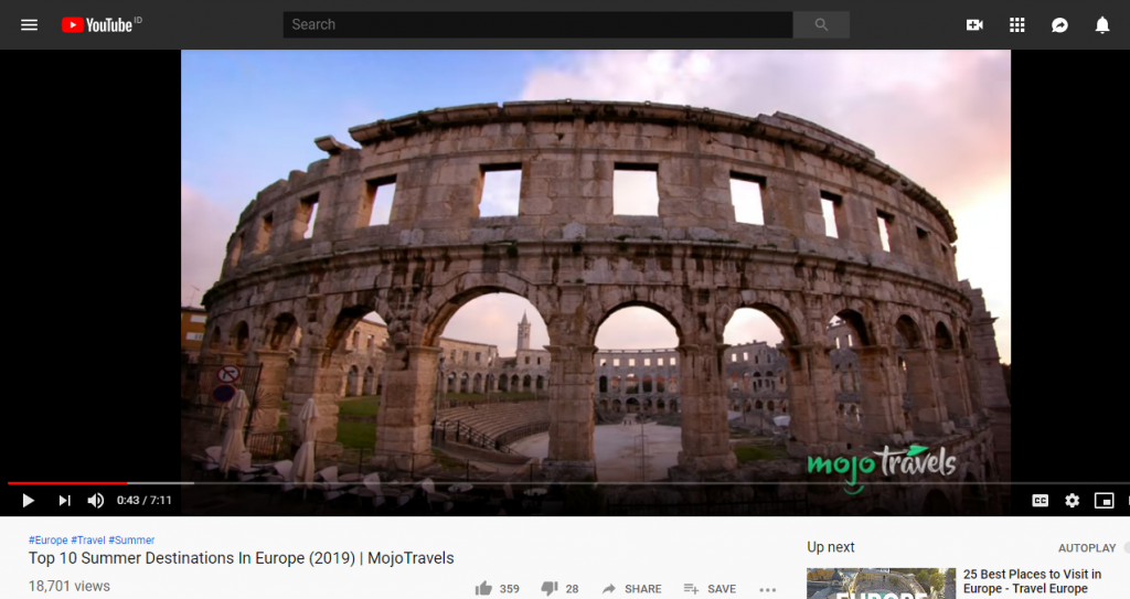 video on youtube by Mojo Travels