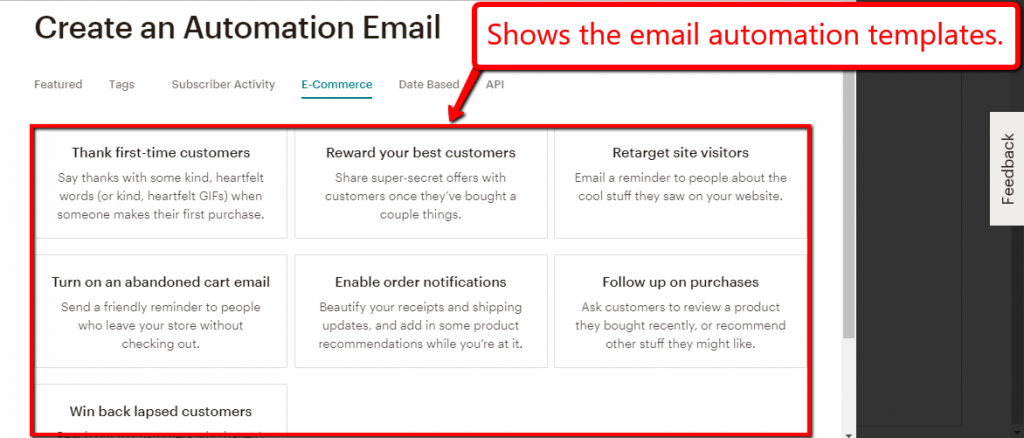 mailchimp email automation dashboard