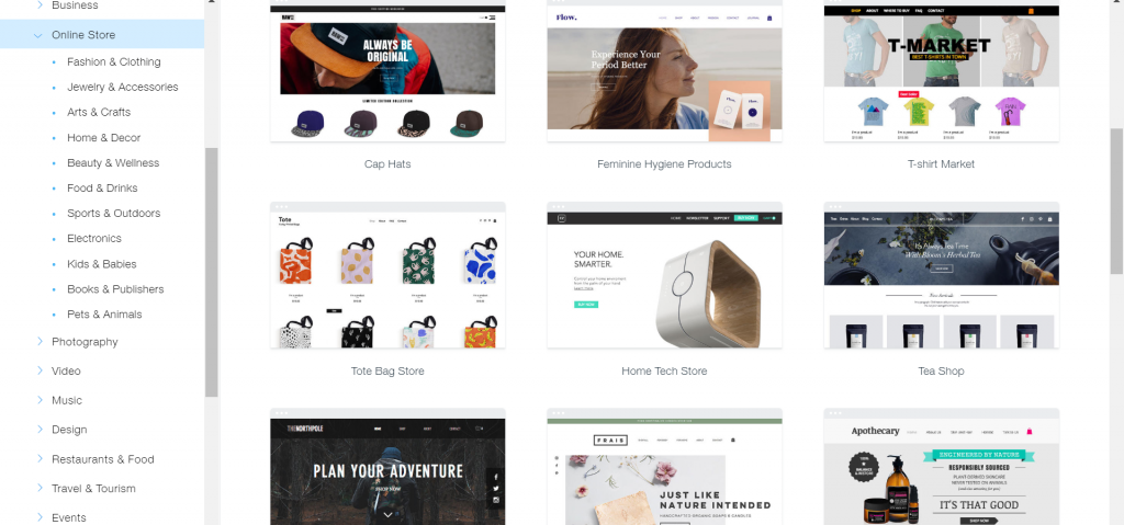 wix store builder
