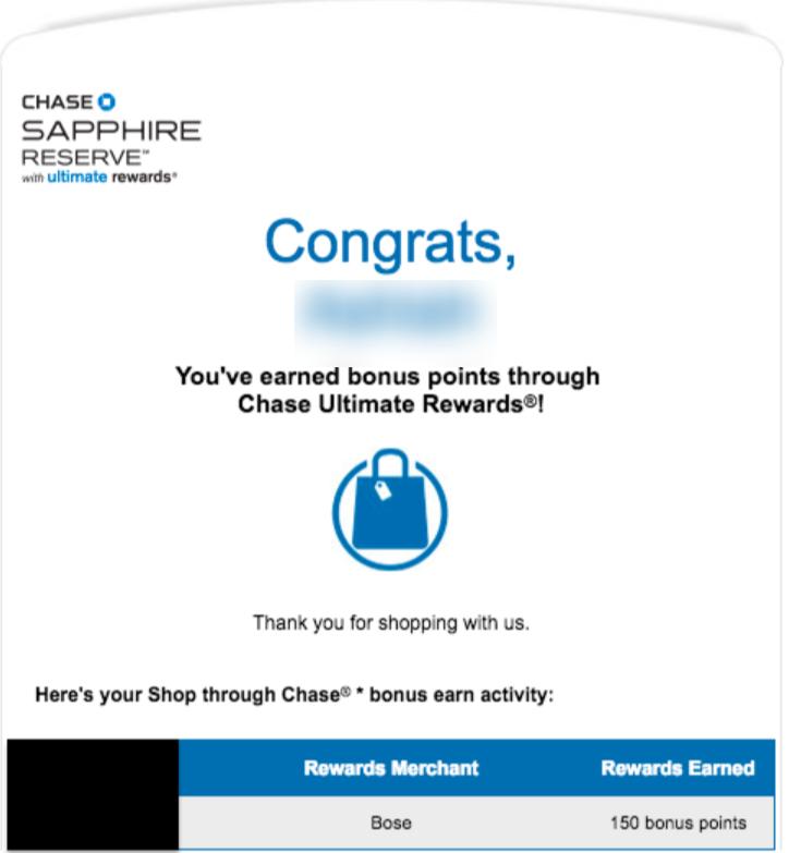bonus notification email