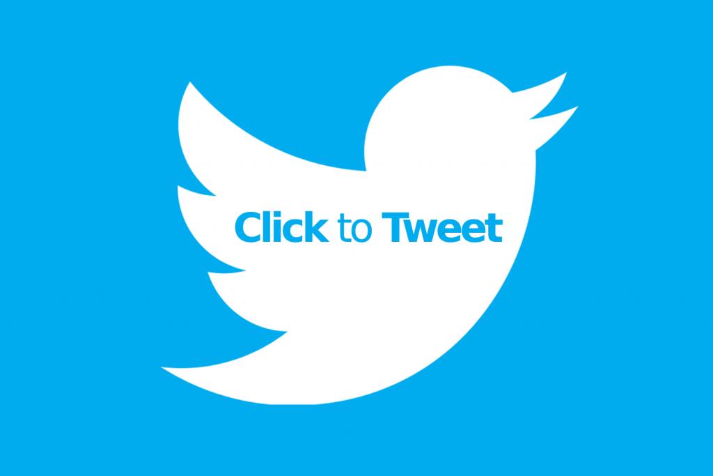 click to tweet logo