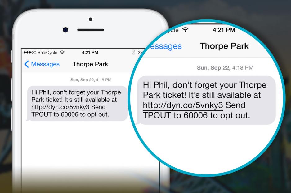 screenshot of a marketing text