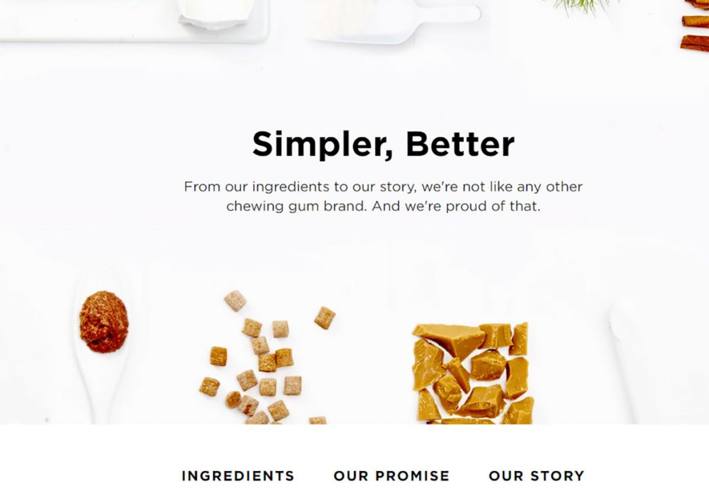 simply gum about us page