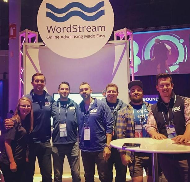 Wordstream booth at an event