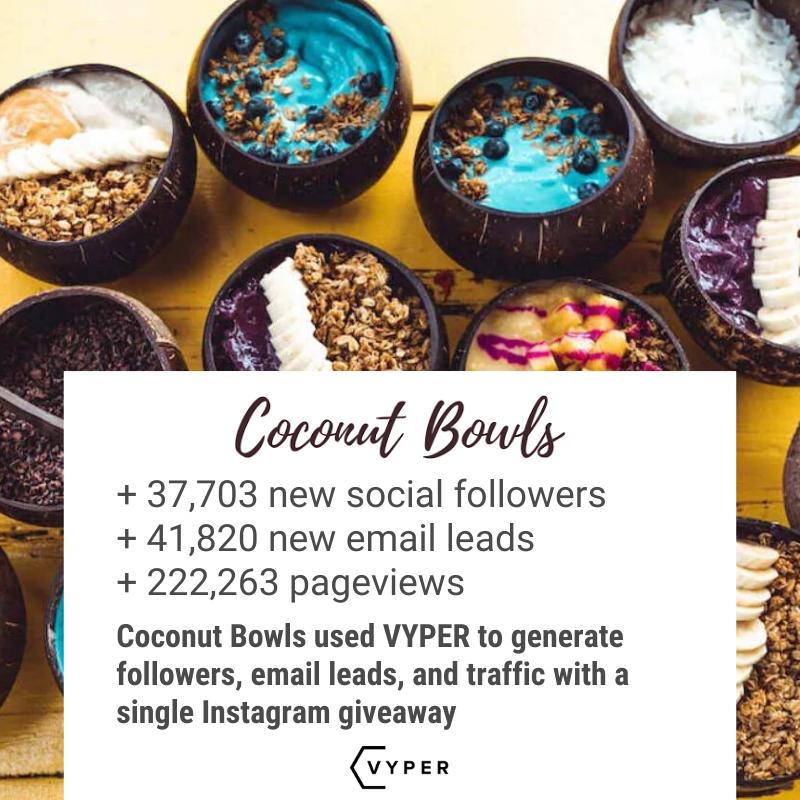 coconut bowls instagram giveaway
