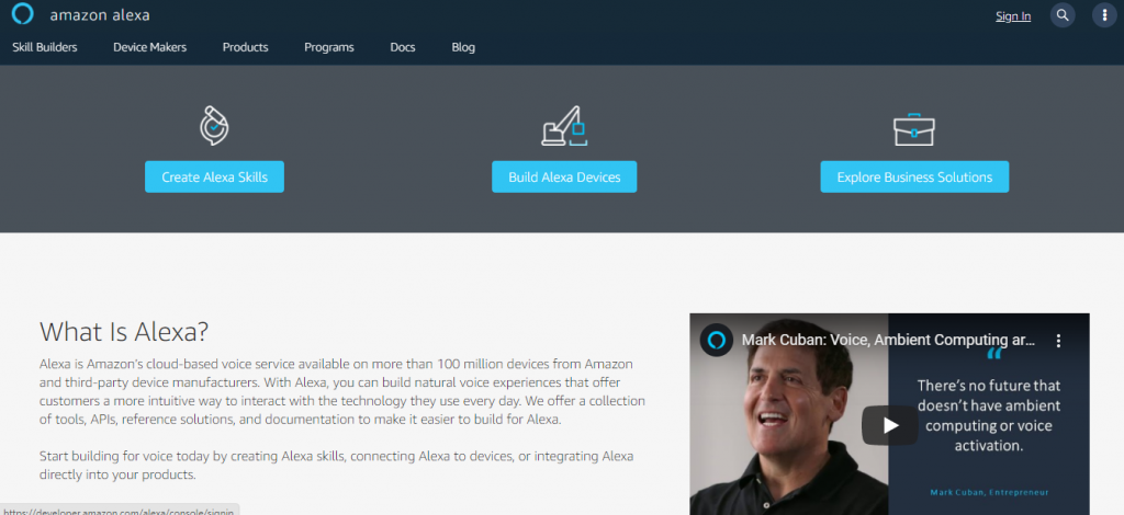 alexa account creation screenshot