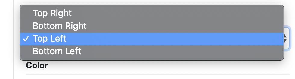 Floating button usage screenshot