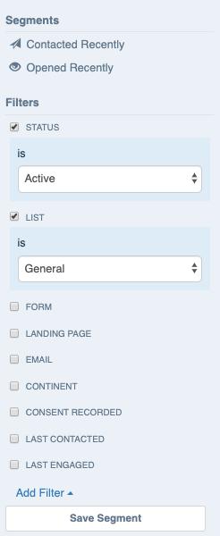mailmunch filter options