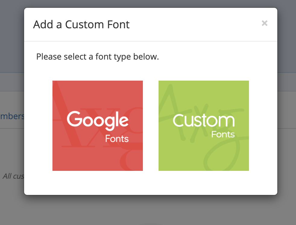 font options in mailmunch app