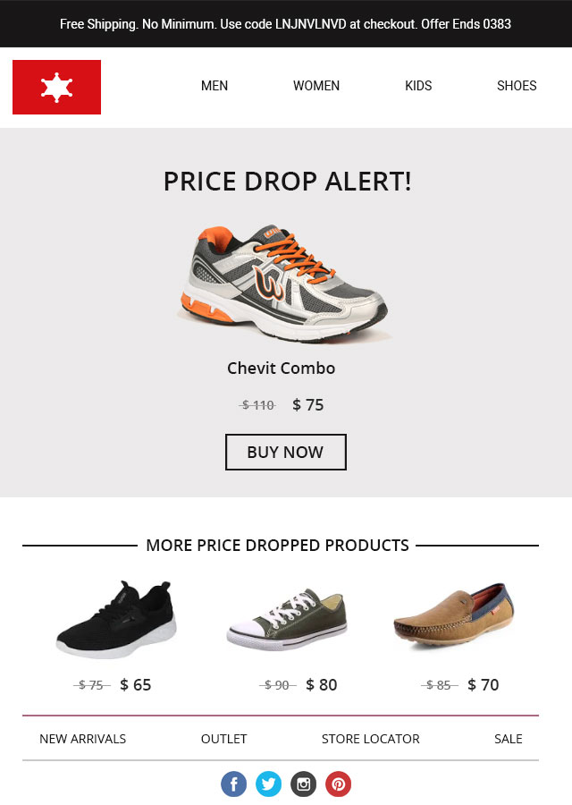 price drop alert email