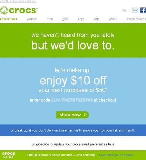 crocs email