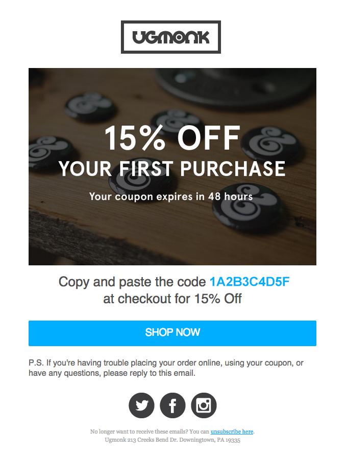 coupon email screenshot