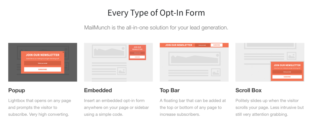 Every type of opt-in form