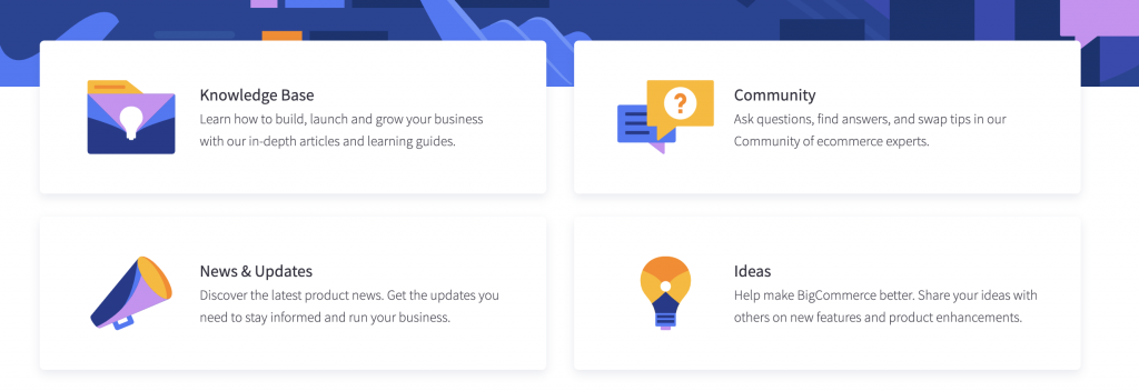 bigcommerce support page
