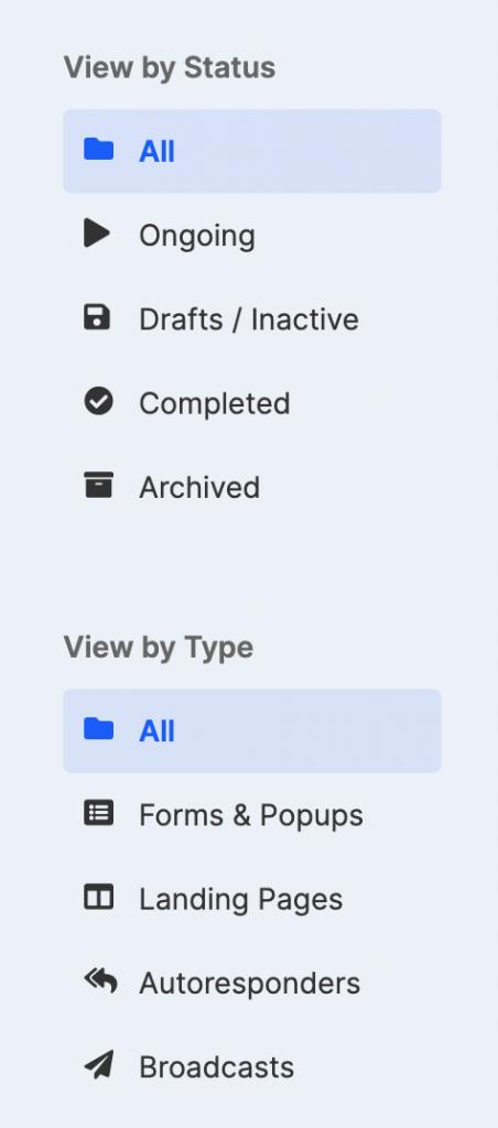 left panel screenshot