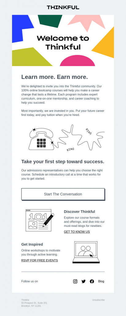thinkful email