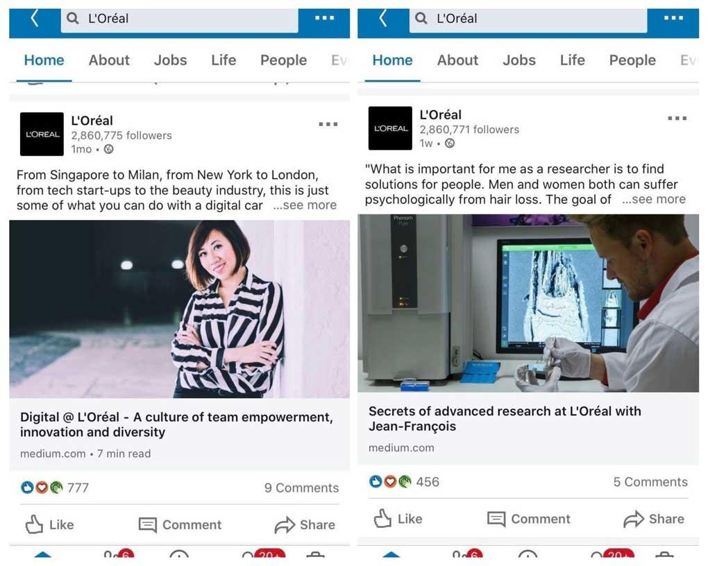 social media marketing with external links