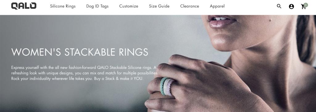 Qalo homepage