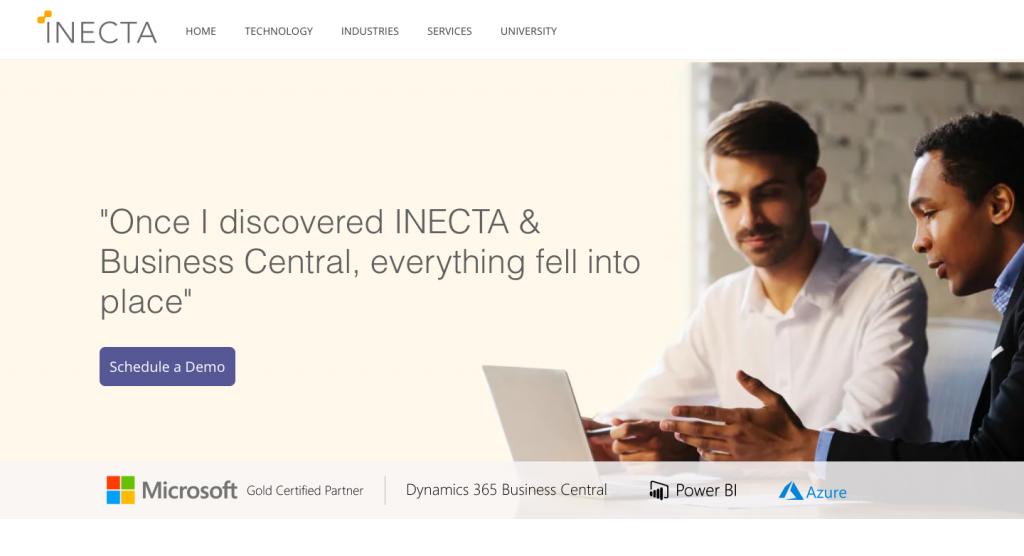 inecta landing page