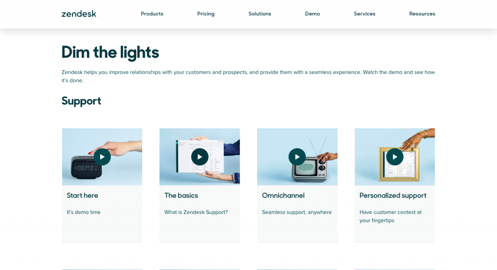 zendesk support page