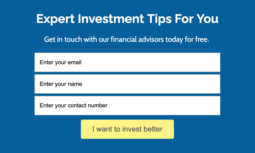 expert investment tips