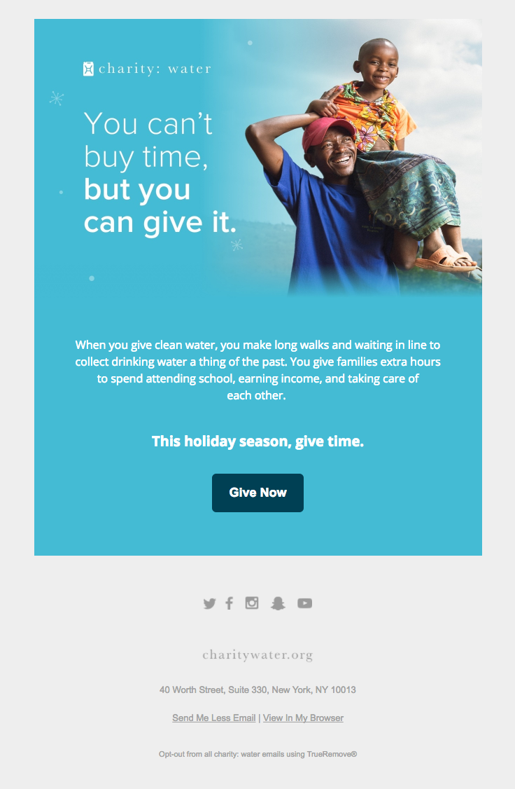 charity email