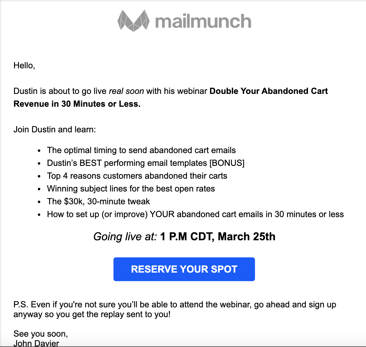 mailmunch email