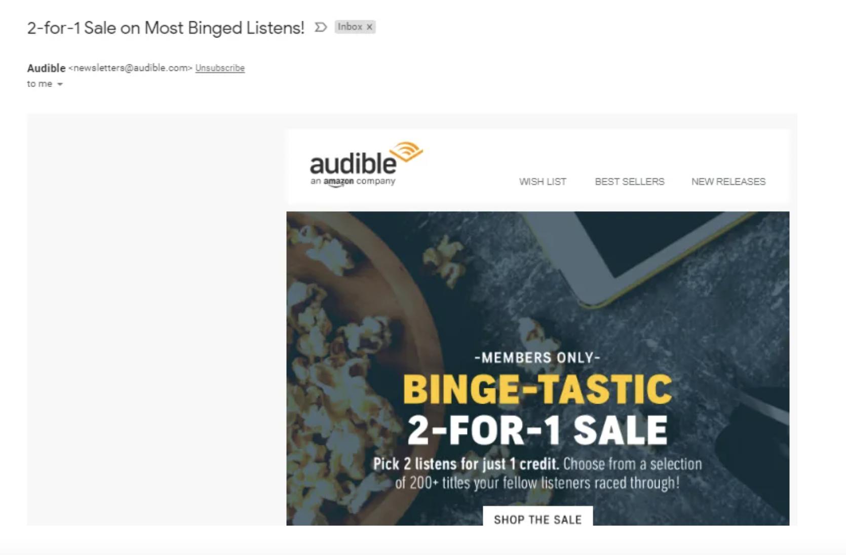 Audible Flash Sale