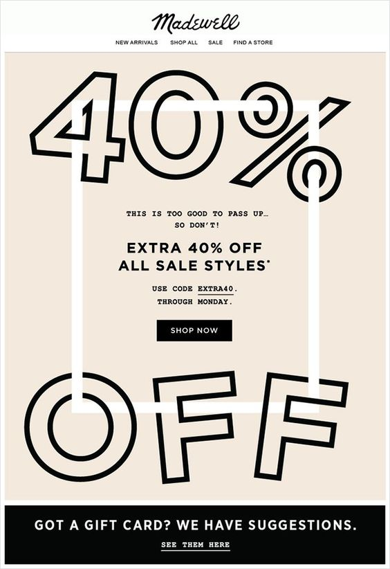 Madewell Flash Sale Email