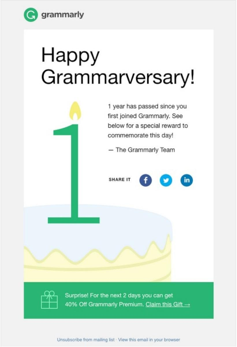 grammarly awards email