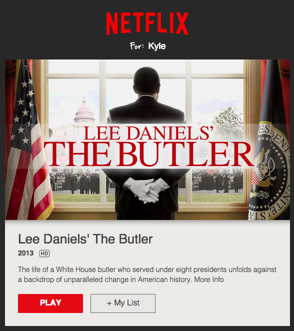 netflix email with banner and cta