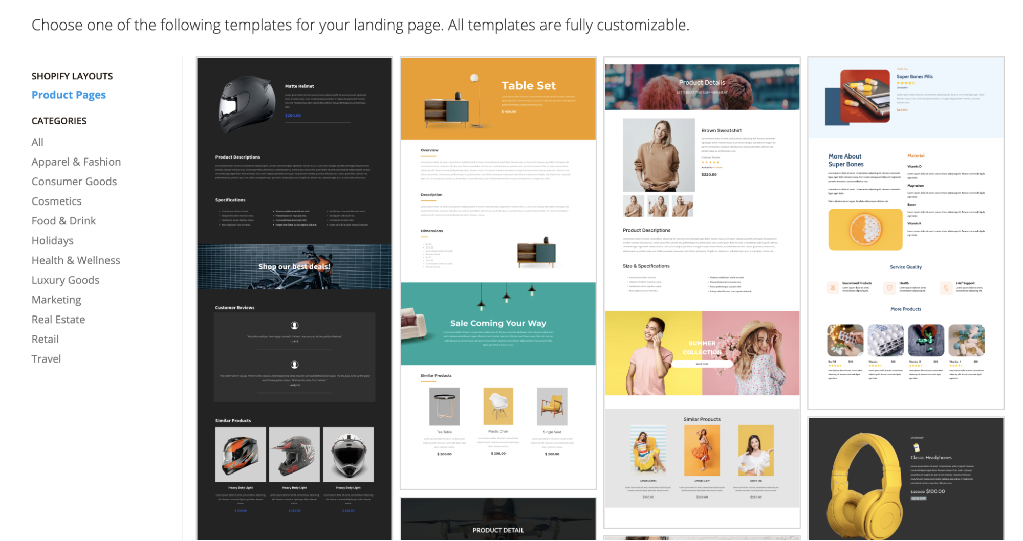 mailmunch themes for shopify product pages