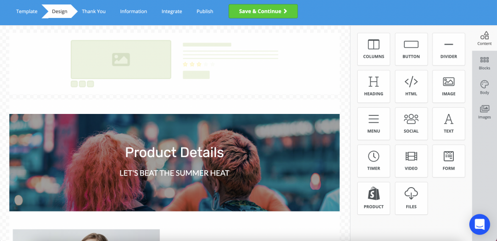 customization of Shopify store through drag and drop builder