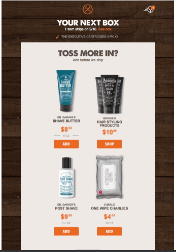 email from Dollar Shave Club