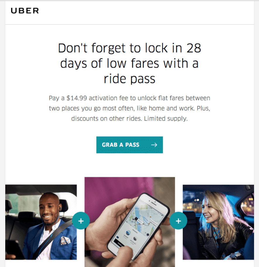 email from Uber