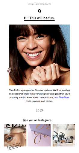 email from glossier