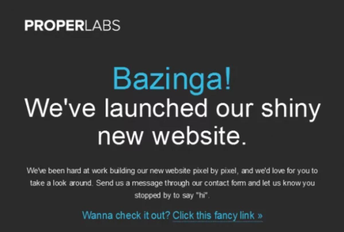 proper labs announcement banner