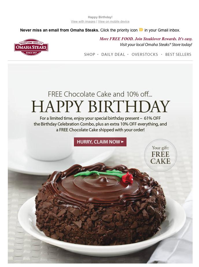 birthday. email