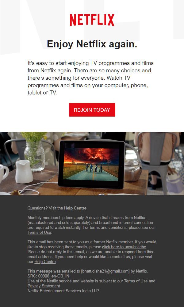 final netflix email