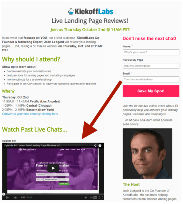 landing page by Kickoff