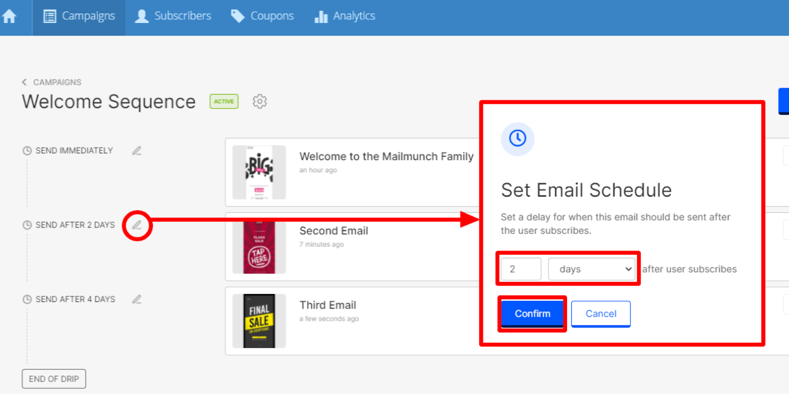 How to set a sequence for email drip campaigns targeting your email lists