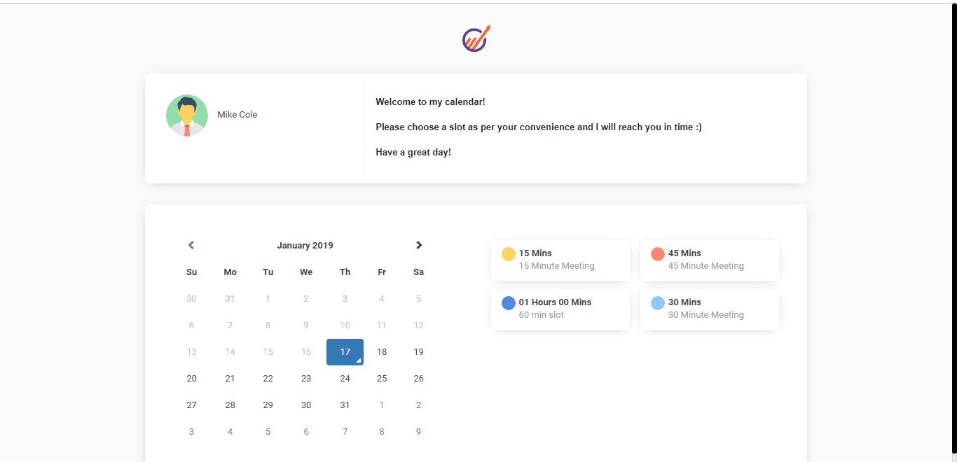 Engagebay calendar screenshot