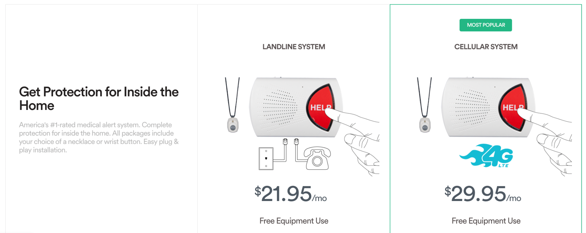 Image showing the best price package out of two