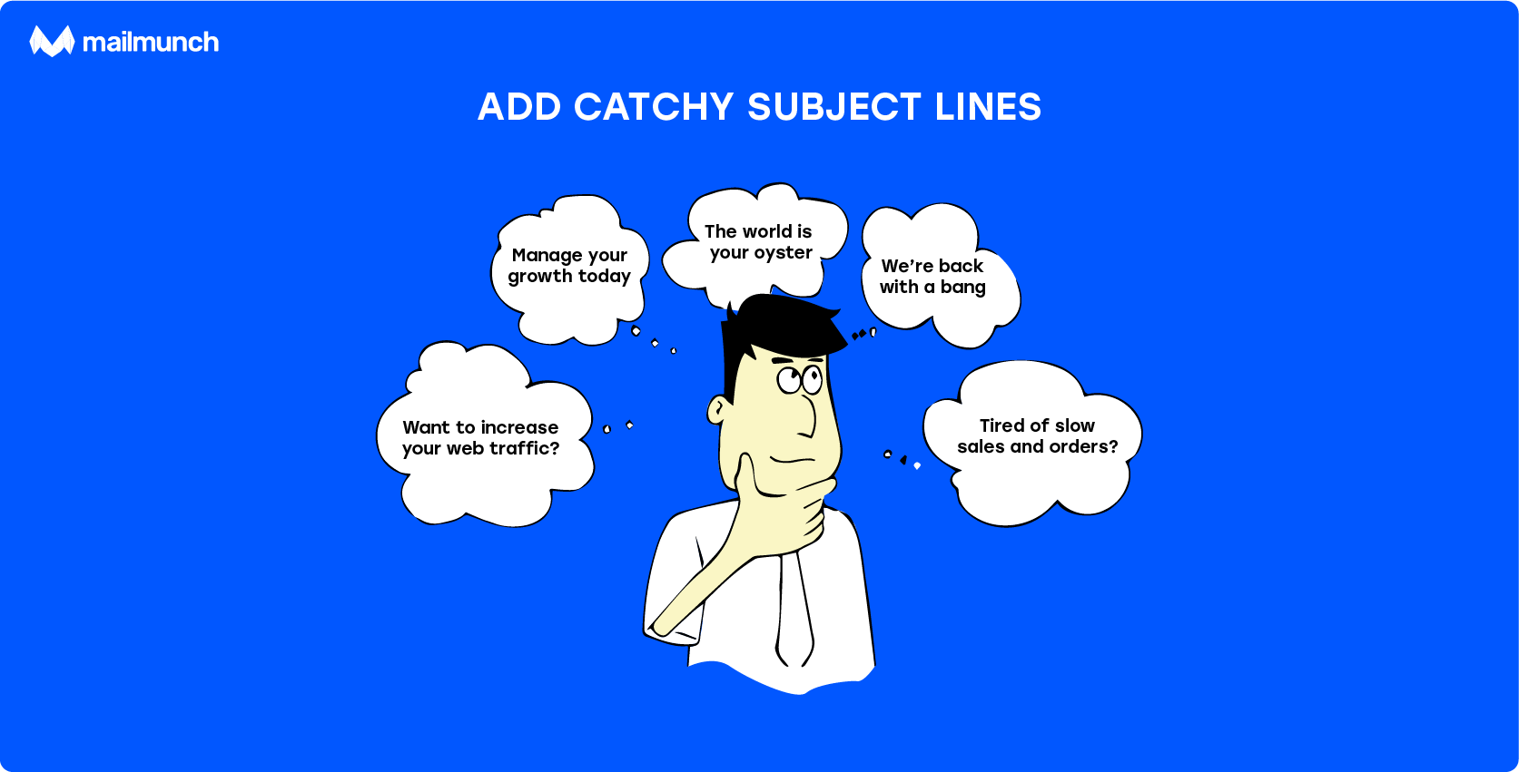 use catchy subject lines in your emails for better open rates