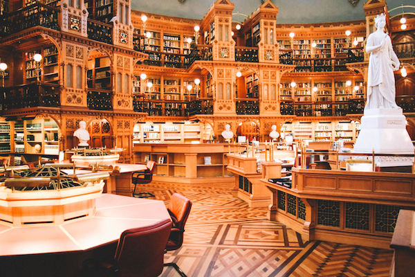 Some of the most beautiful spaces to see are where books come free.