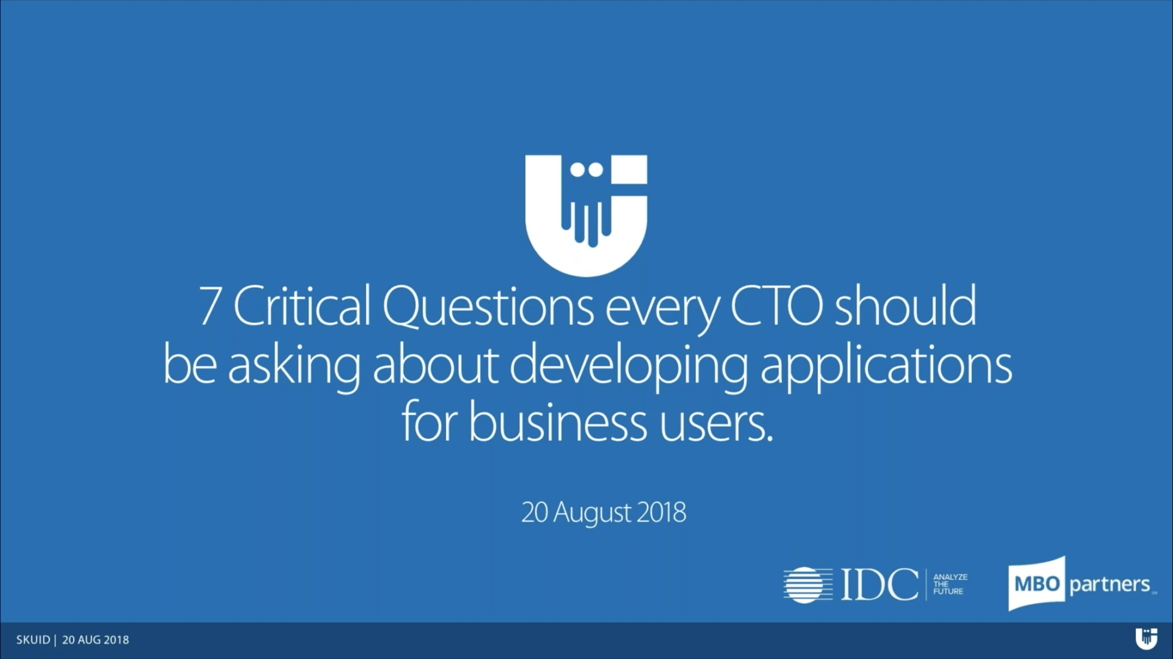 7 questions every CTO should be asking about developing applications for business users