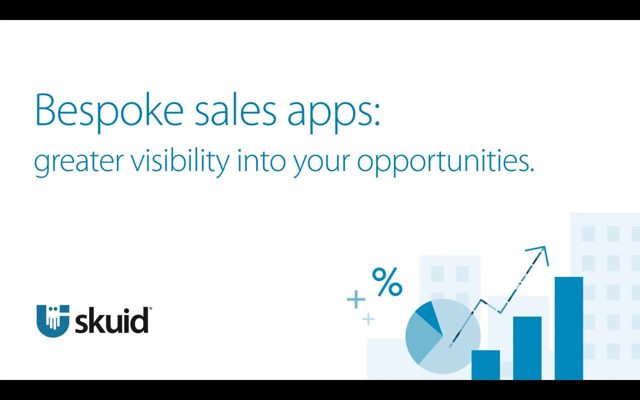 Bespoke sales apps: greater visibility into your opportunities.