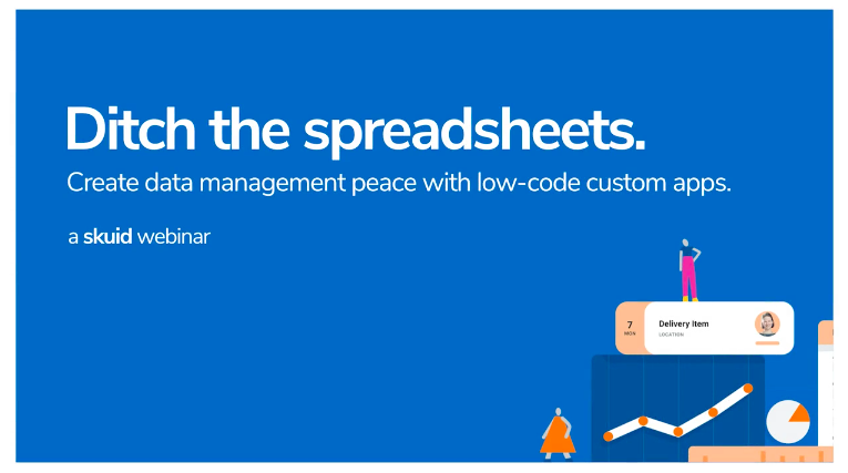 Ditch spreadsheets for low-code custom apps