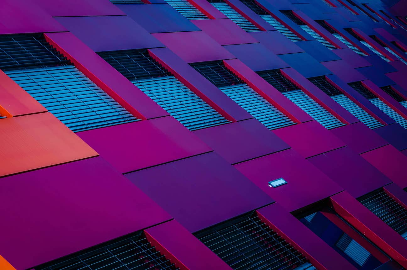 Colorful building with windows