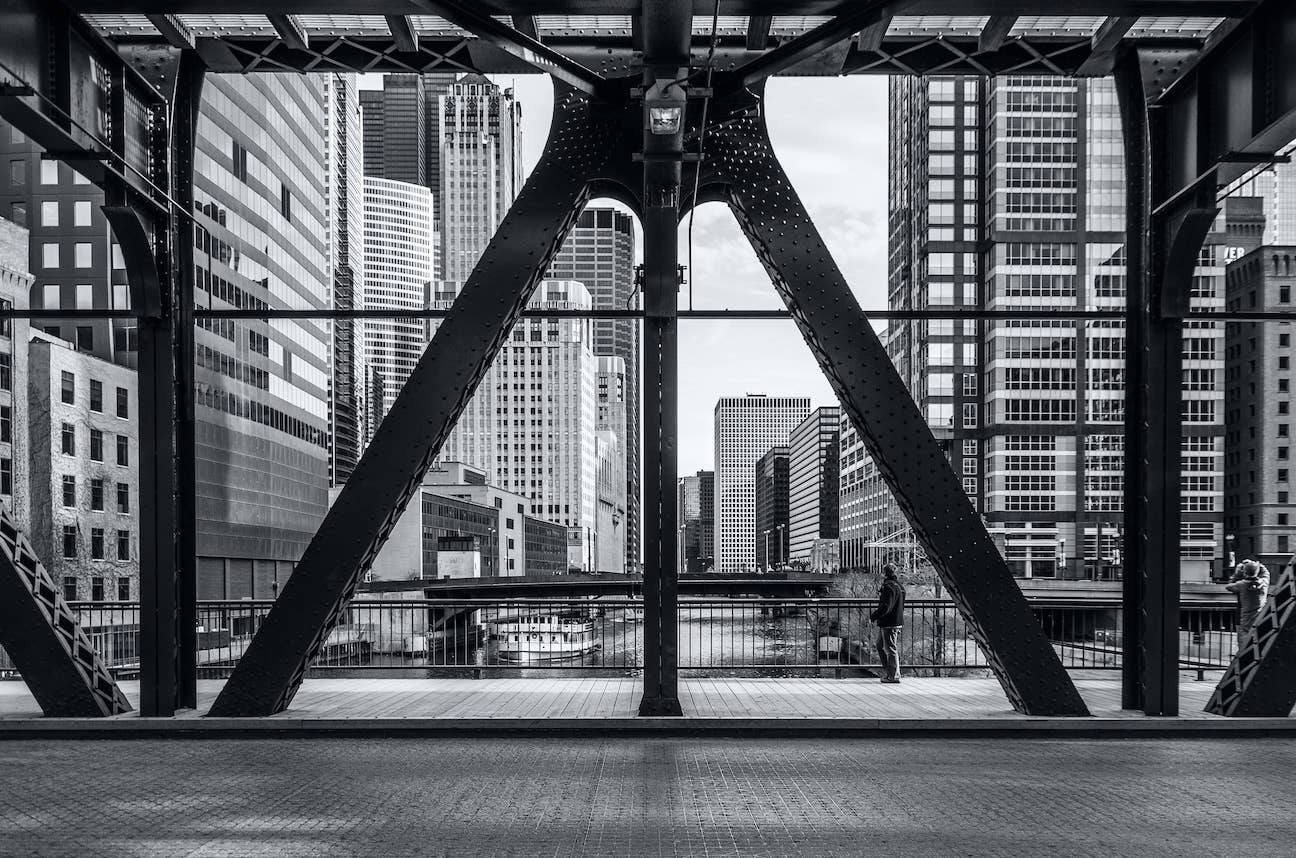 A bridge over the river in Chicago